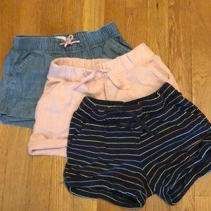 3 pair gap old navy girls shorts